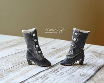 Victorian Boots OOAK for Blythe dolls (all bodies) and others with up to 3cm feet - Darkness