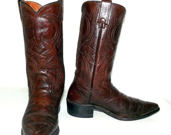 Texas Imperial Brown Cowboy Boots  - mens size 8 D / womens size 9.5