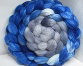 Organic Polwarth/Bombyx 80/20 Roving Combed Top 5oz - Twilight Fog 1 - Oops!