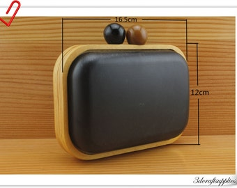 16.5cm X 12cm New fashion wooden purse frame  Box purse frame Purse frames M69