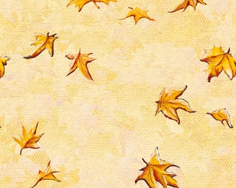 Falling Maple Leaves Fabric - Leaves Pattern By Timone - Orange Watercolor Leaves Cotton Fabric By The Yard With Spoonflower