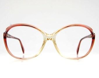 Oversized Cat Eye Berry Pink Shade Eyeglasses Frame Womens Vintage 70s Rodenstock Bohemian Sunglasses
