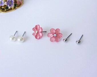 Cute Set of 3 Stud Earrings