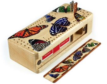 Butterfly Cribbage Board