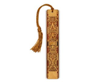 Aztec - Mayan Engraved Wooden Bookmark