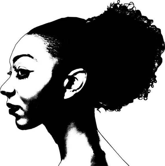 african american young woman face clipart png clip art Digital Image Download art graphics images printables digi stamp digital stamp