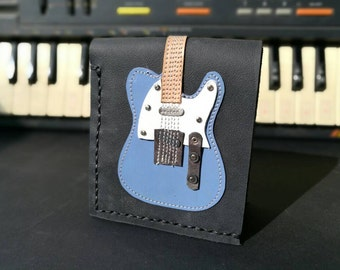 S. A. L. E. 20% Black Friday  Coupon Code blackfridaysale20 Hand Stitch Men Wallet Fender Telecaster vintage blue Color