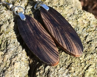 Small Ancient Wood 165000 Year Old Wood Earrings