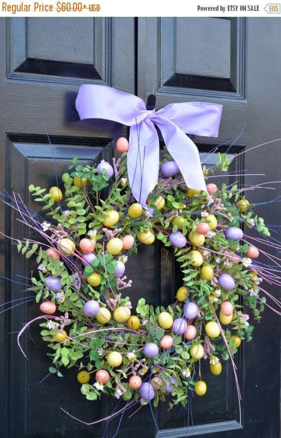SPRING WREATH SALE Easter Wreath- Spring Door Wreath- Spring Wreath- Easter Egg Decor- Easter Decoration- Easter Decor- Spring Decor- Easter