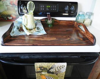 Stove Board, Wooden Noodle Board, Stove Tray, Hand Crafted Wooden Stove  Board, Handmade Noodle Board,  Wood Stove Board, Stove Cover