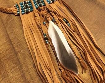 Native American bib choker