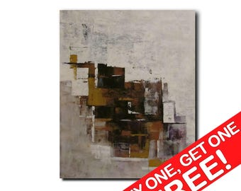 Original large abstract painting palette knife wall art deco by Elsisy 40x30 Free US shipping