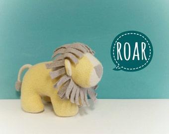 Purple Lion, Handmade, Stuffed Animal, Toy, Children, Plush