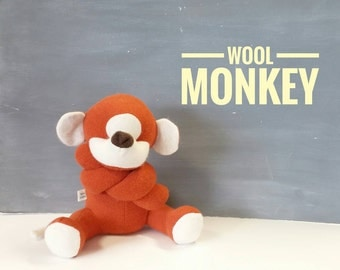 Monkey, Handmade, Stuffed Animal, Toy, Children, Plush