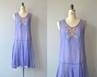 Papier Cadeau silk dress | antique 1920s dress | silk chiffon 20s dress