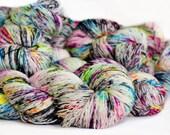 Ruckus 463 yards on 'Posh' Sock Fingering Yarn/ 4 ply merino yarn, handpainted sprinkle