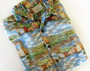 Vintage Reyn Spooner Guy Buffet Hawaiian Aloha Gulf Shirt Mens XL Egyptian Cotton, light wear Great Sport Shirt Collectible
