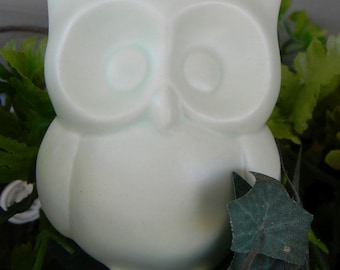 Owl Water Spike  Water System  Mint Green Pastel  Ceramic  Glazed Vintage styled Hooter  dream-cycle colors cm wcm