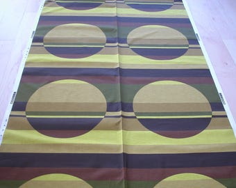 Scandinavian Original 70s Fabric, still on bolt, op art material, tissu vintage, retrostoffe, retro stoff deko, 1970s curtains