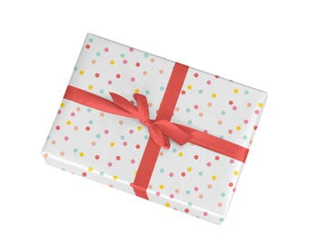 Polka Dot Gift Wrap - Wrapping Paper Sheets