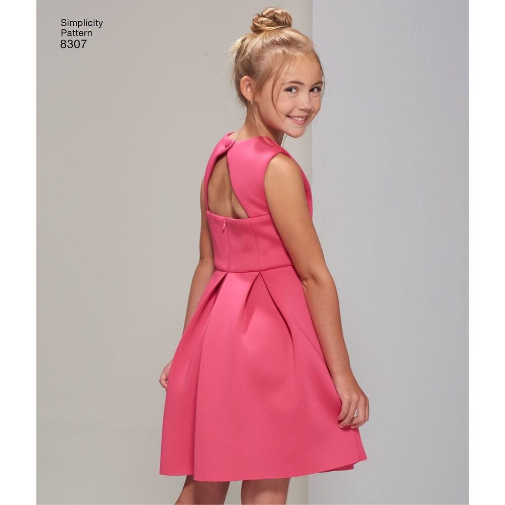 Fancy dress pattern make girls prom formal junior bridesmaid 699 ombrellifo Gallery