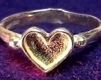 Solid Sterling Silver ~ Rough Heart ring Casting ~ For iNLAY Work~ Custom ordered for you ~ #EFB-153 ~ FDK
