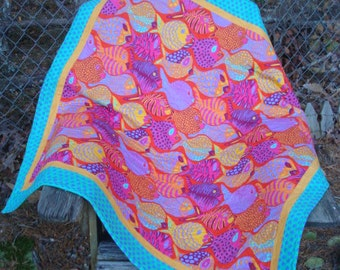 Fish Lap Quilt Baby Quilt Throw Quilt Play Mat