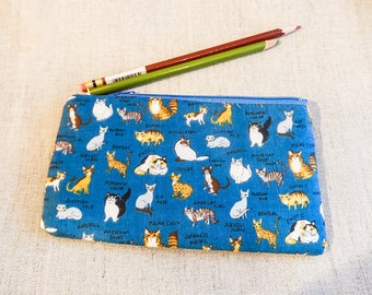 Make Up Bag/ Cat Gift for Her/ Crazy Cat Lady Gift/ Valentines Day Gift/ Gift for Mom/ Anniversary Gift/ BFF Gift/ Coworker Gift/ Gift
