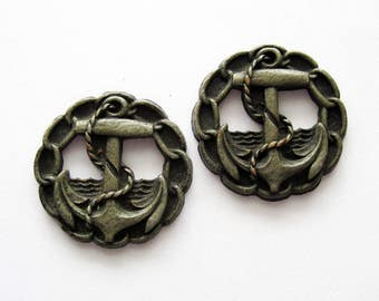 Vintage Anchor Buttons