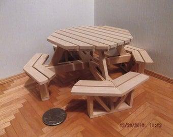 Miniature Octagonal Picnic Table