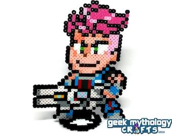 Zarya Overwatch - Perler Bead Sprite Pixel Art Figure