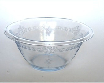 FIre King  Glass Sapphire Philbe Utility Bowl  8 3/4 in