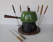 Avocado Green Fondue Set
