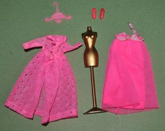 Topper Dawn #823 Dream Sweet Princess Negligee Peignoir Slippers Dress Form