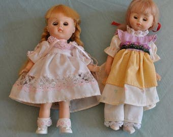 2 Vintage Vogue Ginny Dolls 1977 and 1972