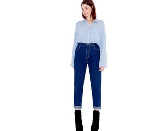 omg insane 70s skinny jeans / xs small / high waisted jeans with slight stretch mom jeans super soft dark blue jeans 70s jeans tapered jeans