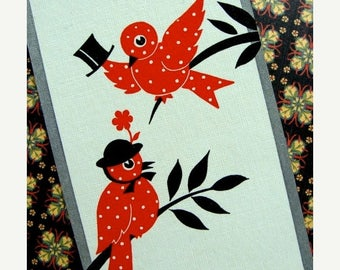 ONSALE 5 Antique Birds Chippers Cards