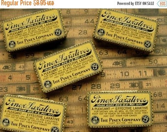 ON SALE One Antique Medical 25 Cent Hinged Tin