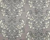 "SALE - Minky Madrid Cuddle Carbon - 29""x30"" BLANKET CUT - Minky Grey Damask - Minky Gray Damask - Shannon Fabrics"
