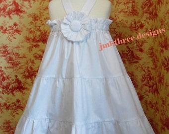 Beach or Wedding Flower girl White Halter dress sizes 0-3m-8Y