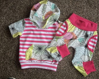 Baby Girl Outfit//Baby Girl Clothes//Trendy Baby Clothes//Pink Stripes//Floral//Hot Pink