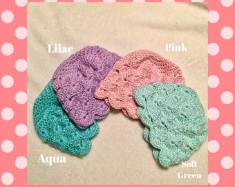 Scalloped Hat for Baby Girl (Made to Order)