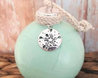 Beach Ornament, Beach Christmas Ornament, Sand dollar Ornament, Christmas Ornament, Nautical Decor, Coastal Christmas Ornament
