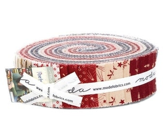 "SALE Liberty Gatherings Fabric - Moda - Honey Bun - 1.5"" strips - Primitive Gatherings"