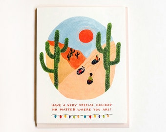 Desert Sledding Card