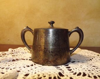 Vintage Silver Restaurant Sugar Bowl The Grand Atlantic Hotel Ocean Grove New Jersey