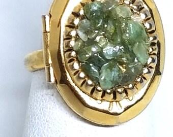 Peridot Vintage Poison Ring Adjustable