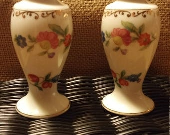 Floral Salt and Pepper Shakers by Noritake
