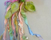 RESERVED - needle felted flower enchanted forest bookmark hair adornment corsage - faerie fantasy dream flower