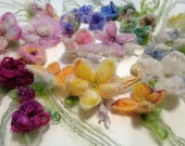custom listing for jill    - needle felted enchanted forest flowers